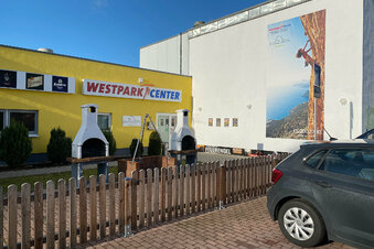 Erstes Drive-In-Testzentrum in Zittau