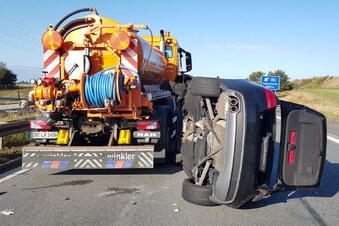 Autobahn nach Unfall gesperrt