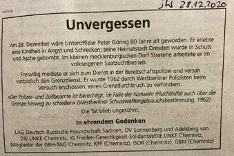 Wirbel um Gedenkanzeige für DDR-Grenzer