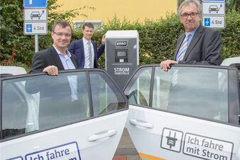 Neue E-Tankstelle für Wilsdruff