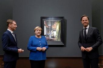 Merkel eröffnet Vermeer-Schau - wenige Proteste
