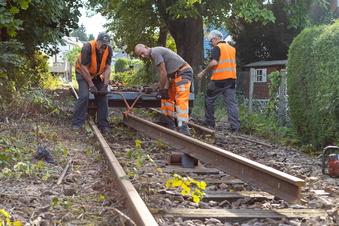 Gleisbau für die Windbergbahn