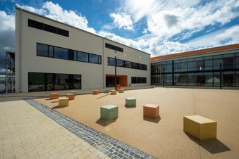 Arbeiten am Wilsdruffer Gymnasium