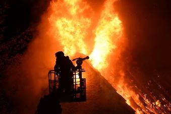 Leisniger ganz nah am Feuer