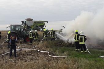 In Strehla brennt Feldscheune nieder