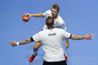 Dresdner Handballer testen in Leipzig