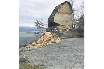 Plötzlich war der Sandstein weg