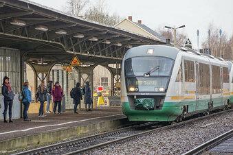 Trilex kündigt Zugverspätungen an