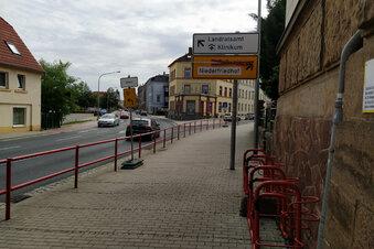 Plötzlich war die Roßweiner Straße dicht