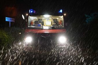 Unwetter und Starkregen in Teilen Sachsens