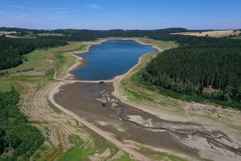 Wasserstand der Lehnmühle auf Rekordtief