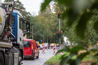Zusätzliche Straßensperrung in Pulsnitz