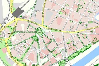 Bäume im Dresdner Themenstadtplan
