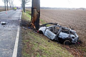 Ein Toter nach schwerem Unfall auf der B6