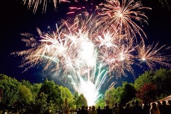 Barockes Feuerwerk wird nachgestellt