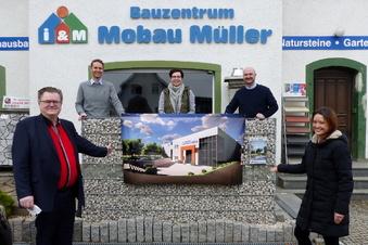 Hänichener Baustoffhandel kann mit Neubau loslegen