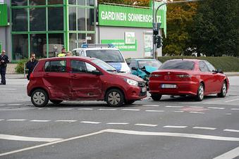 Mehrere Unfälle an der B156 in Bautzen