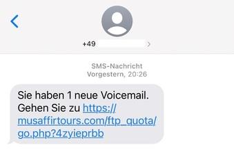 Neue Betrugsmasche: Voicemail per SMS