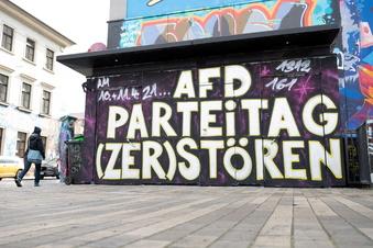 Protest gegen AfD-Parteitag in Dresden