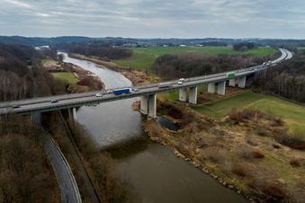 Riesenbrücke der A14 bei Grimma wird neu gebaut