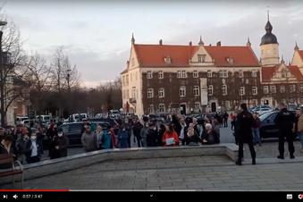 Riesa: Demonstrantin beißt Polizistin