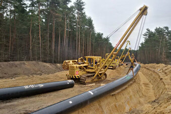 Neue Gasleitung von Strehla nach Nünchritz