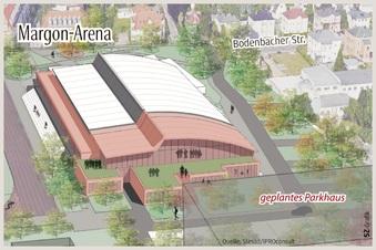 Margon-Arena kommt ohne Parkhaus aus