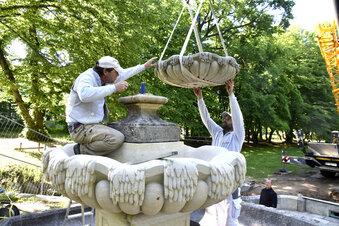 Gönnsdorfer Park hat den Brunnen zurück