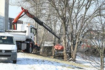 Wintereinbruch stoppt Uferarbeiten