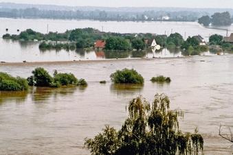 Land unter an der Elbe