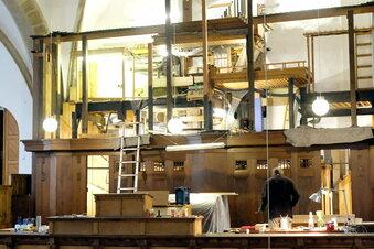 Einbau der Frauenkirche-Orgel geht weiter