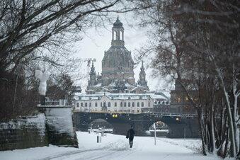 """Dresden: """"Geflöckel"""" und Temperaturrekord"""