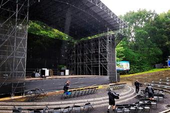 Kamenz: Hier entsteht die Bühne für den Kaiser