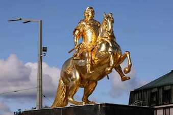 Goldener Reiter: Mann wollte Huf abtrennen