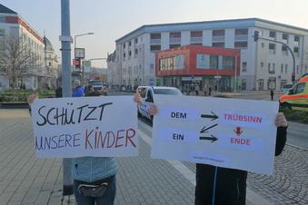 Corona-Protest an der Dresdner Straße