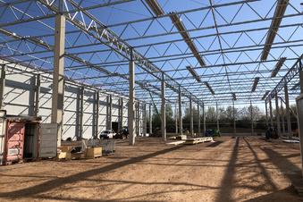 Aldi baut eine neue Halle in Wilsdruff