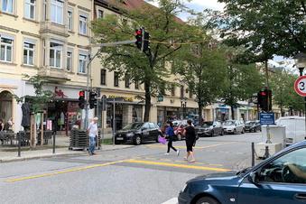 Pirna installiert feste Fußgängerampel an der Breiten Straße