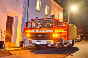 Küchenbrand in Bärenstein