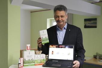 Online-Shop mit Salbeiblüten-Violett