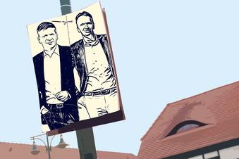 OB-Bewerber feilschen um Plakate