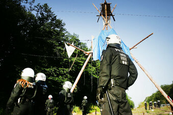 Polizeiaktion im Hambacher Forst