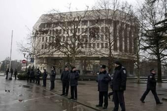 Parlament auf der Krim besetzt