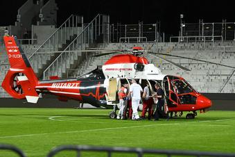 Schwerer Unfall überschattet Dynamo-Spiel