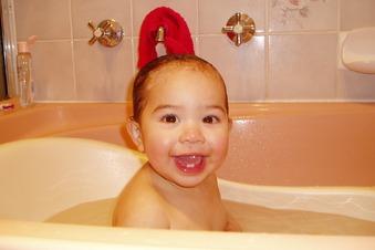 Babys nicht zu oft baden