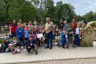 Kinder spenden für den Wildpark
