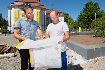 Baufinale an Dresdner Altstadt-Promenade