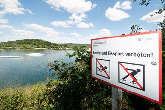 Gefährliches Bad in der Kiesgrube Leuben