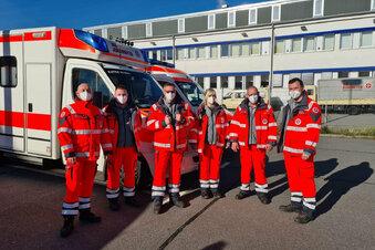 Riesaer Johanniter evakuieren in Chemnitz