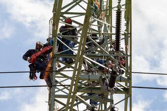 Die Stromkletterer von Heidenau