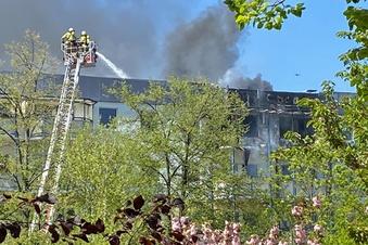Brand in Wohnhaus in Dresden-Prohlis